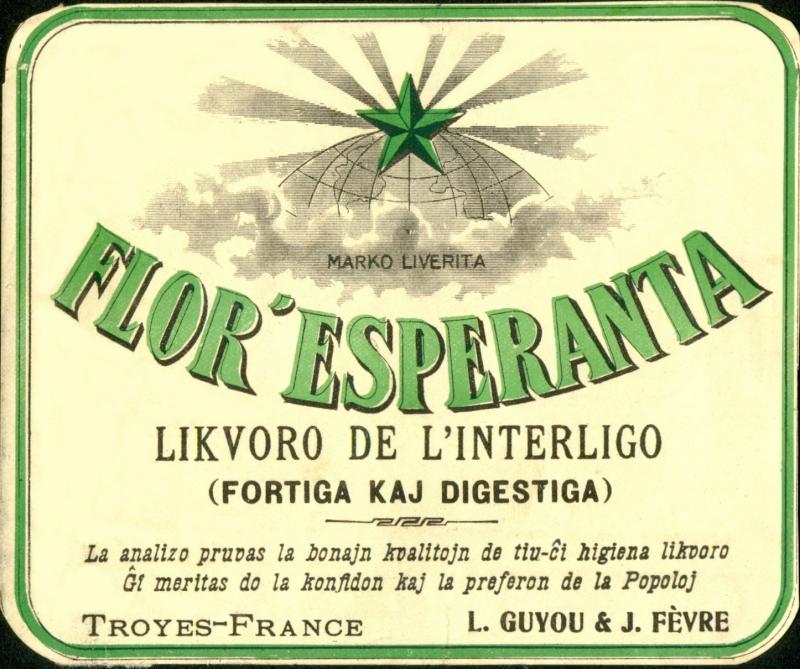 Flaschenetikett: Flor' Esperanta