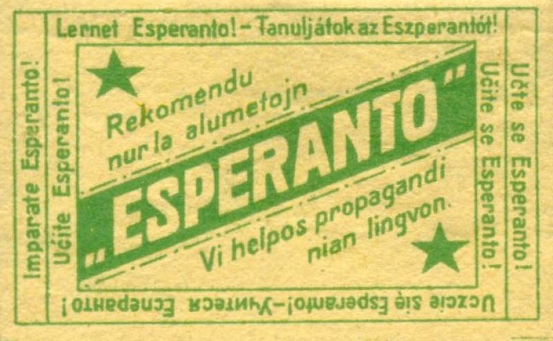 Zündholzschachtel: Esperanto