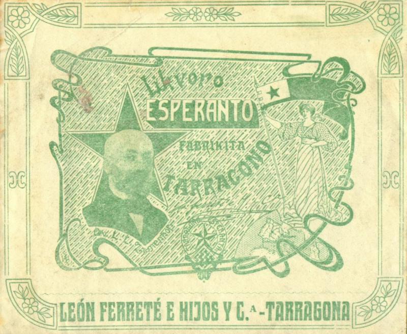Flaschenetikett: Likvoro Esperanto