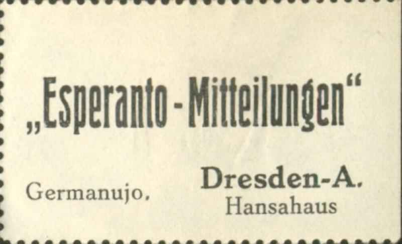 Adressaufkleber: Esperanto-Mitteilungen