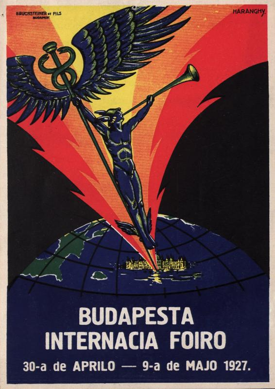 Plakat: Budapeŝta Internacia Foiro : 30-a de aprilo - 9-a de majo 1927