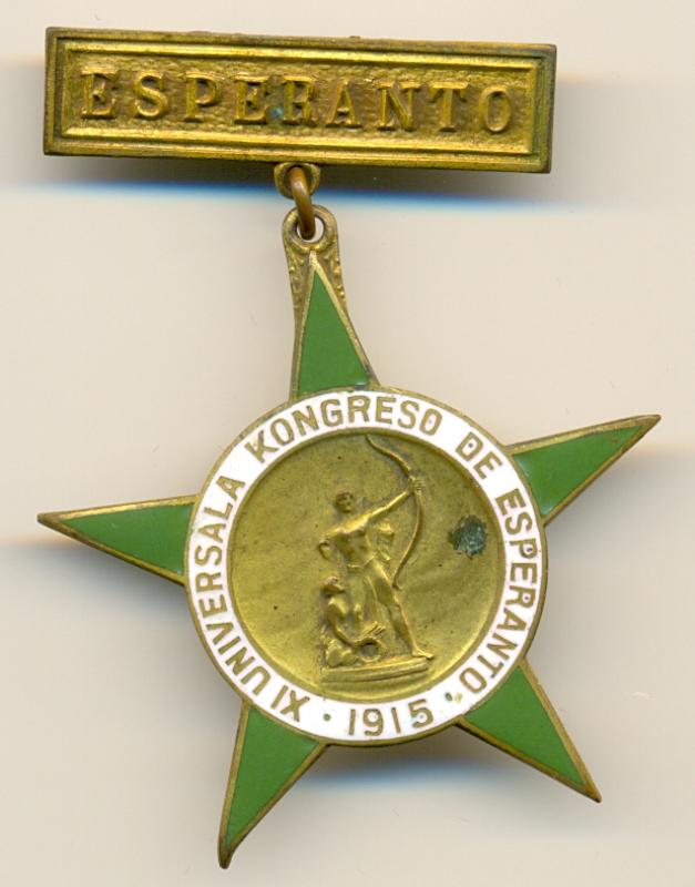 Abzeichen: 11a Universala Kongreso de Esperanto, San Francisco 1915