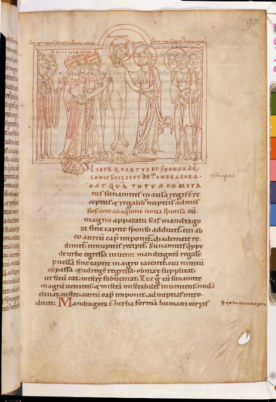 Cod. 942, fol. 92r: Expositio super Cantica canticorum, Sigillum beatae Mariae, Hexaemeron