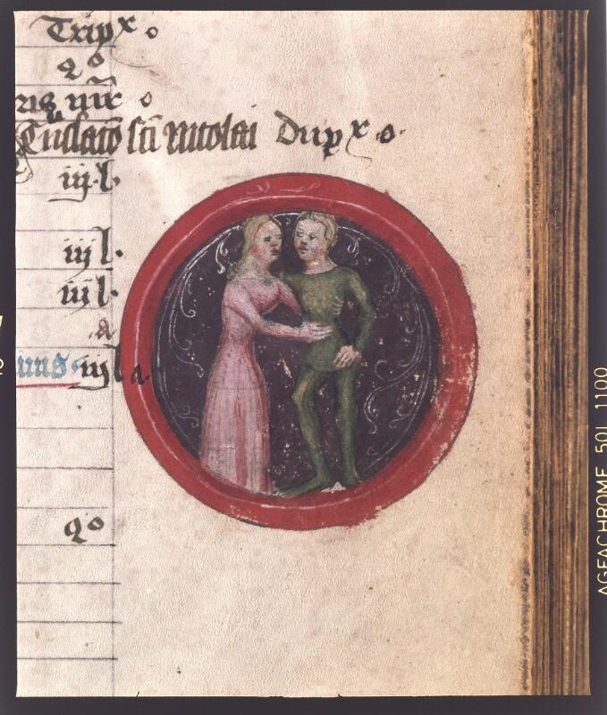 Cod. 1842, fol. 3r: Brevier (Horae canonicae in Polonia Scriptae): Sternzweichen Zwillinge