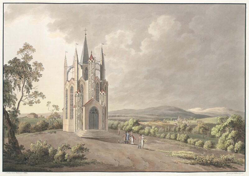 Temple Gothique du Jardin de Schönhof en Bohéme