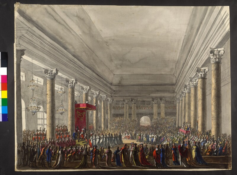 Verleihung des österreichisch-kaiserlichen Leopold-Ordens durch Kaiser Franz II./I. 1808 von Hoechle, Johann Nepomuk