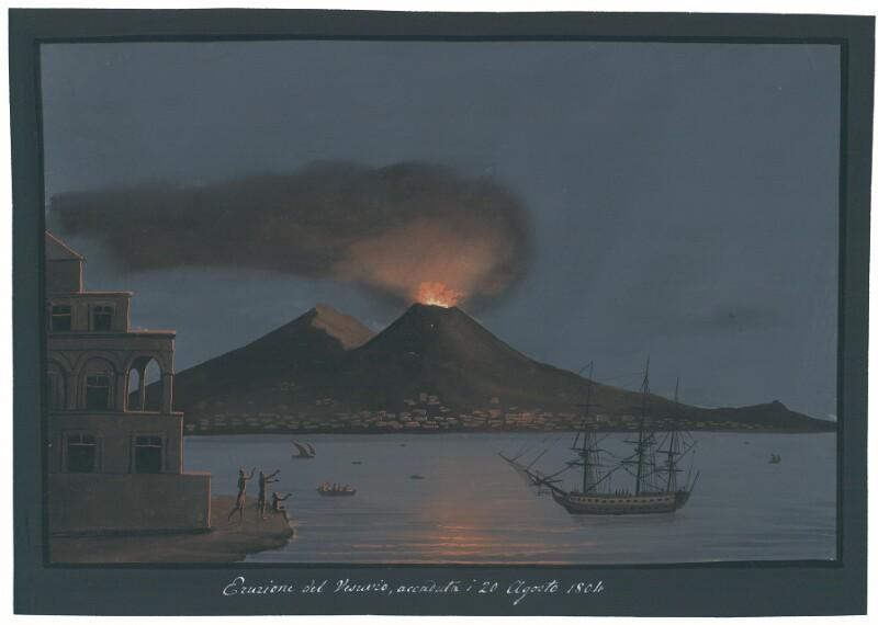 Eruzione del Vesuvio, accaduta i 20 Agosto 1804