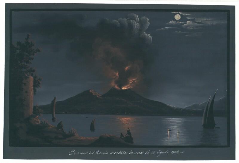 Eruzione del Vesuvio, accaduta la sera di 25. Agosto 1804
