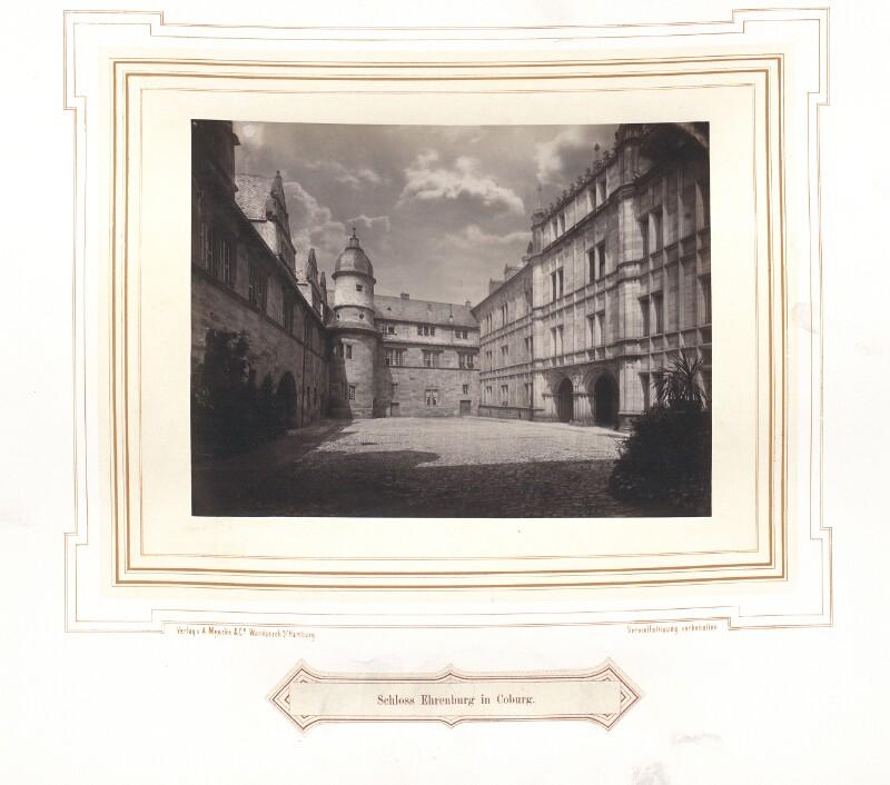 Ansicht des Schlosses Ehrenburg um 1870 von A. Mencke & Co.