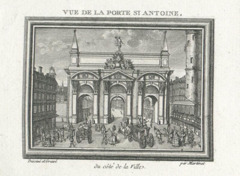 Vue De La Porte St Antoine Du Cote De La Ville Martinet Francois