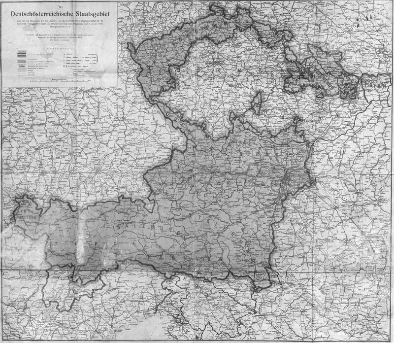 Karte von Deutschösterreich