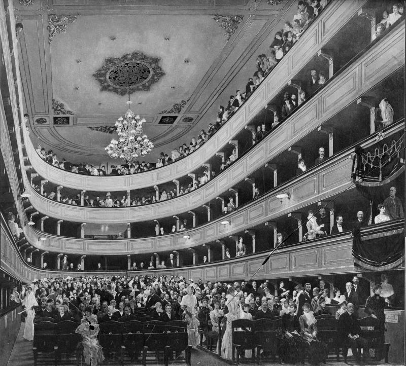 Gustav Klimt, 'Altes Burgtheater' von Klimt, Gustav