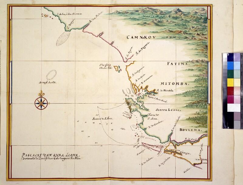 Landkarte der Küste von Sierra Leone von Vingboons, Johannes