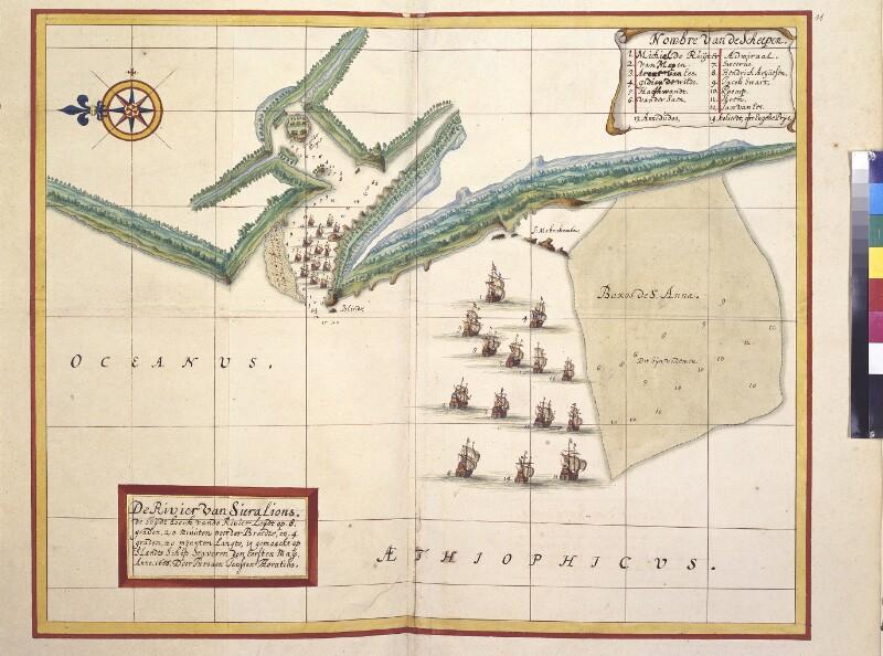 Karte des Sierra Leone Flusses von Vingboons, Johannes