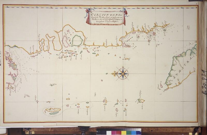 Karte der Andamanensee von Vingboons, Johannes