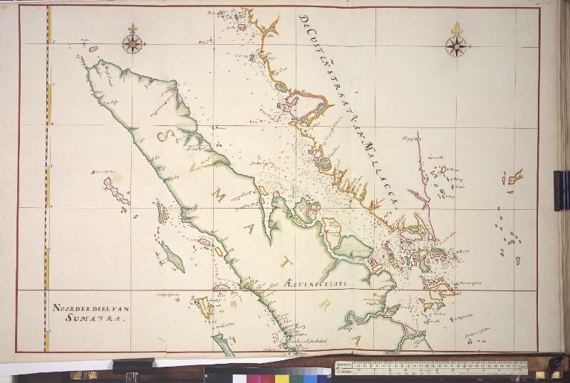 Landkarte von Nordsumatra und der Straße von Malakka von Vingboons, Johannes