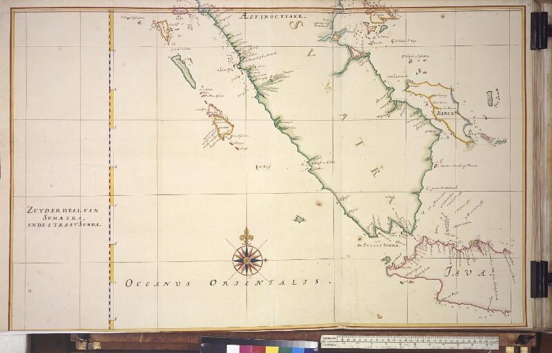Landkarte von Südsumatra und der Sundastraße von Vingboons, Johannes