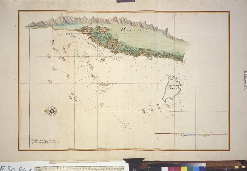 Landkarte der Küste von Makassar von Vingboons, Johannes