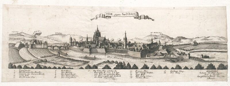 Ulm, gegen Sud Osten von Stridbeck, Johann