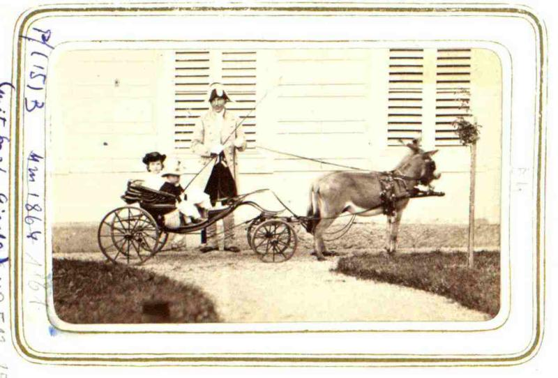 Rudolf, Kronprinz von Österreich mit Schwester Gisela von Angerer, Ludwig