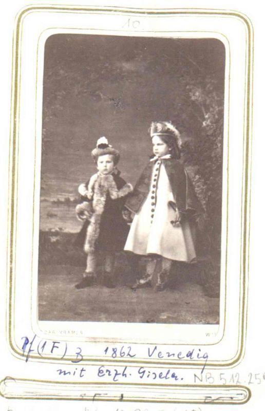 Rudolf Kronprinz Von Osterreich Mit Schwester Gisela