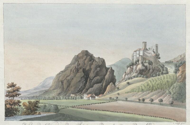 Vue du Chateau de Falkenstein, dans le Canton de Soleure von Wyss, Caspar Leontius