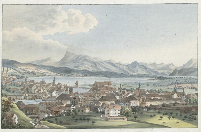 Vue de la Ville de Lucerne von Wyss, Caspar Leontius