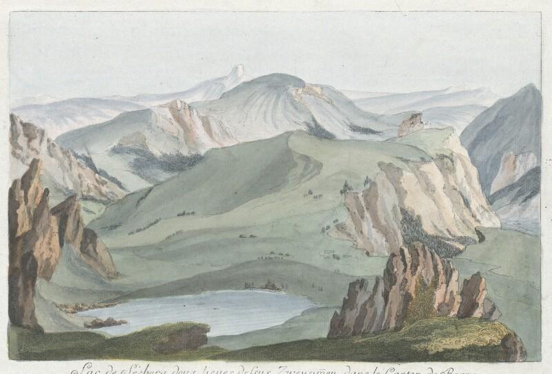 Lac de Séeberg, deux lieues dessus Zweysimmen, dans le Canton de Berne von Wyss, Caspar Leontius