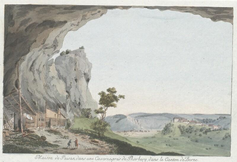 Maison de Paisan, dans une Caverne prés de Thorberg, dans le Canton der Berne von Wyss, Caspar Leontius