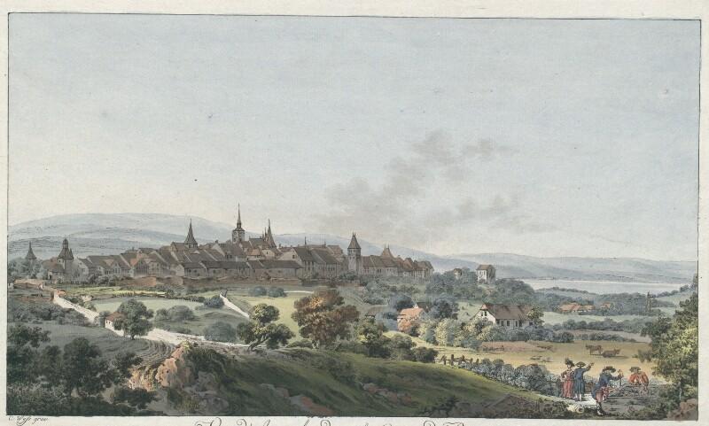 Vue d'Avenche, dans le Canton de Berne von Wyss, Caspar Leontius
