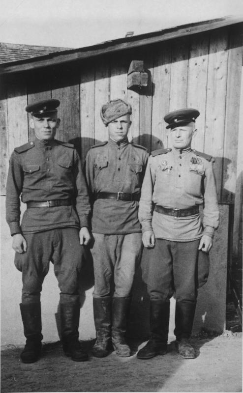 Drei russische Soldaten von Blaha, Franz