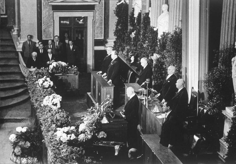 Angelobung Körner als Bundespräsident von Blaha, Franz