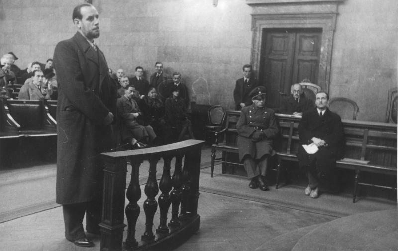 Volksgerichtsprozess gegen Otto Hartmann von Fibinger, Max