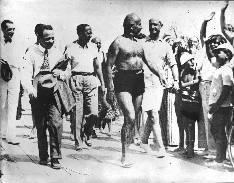 Treffen Mussolini - Dollfuß in Riccione von Hilscher, Albert
