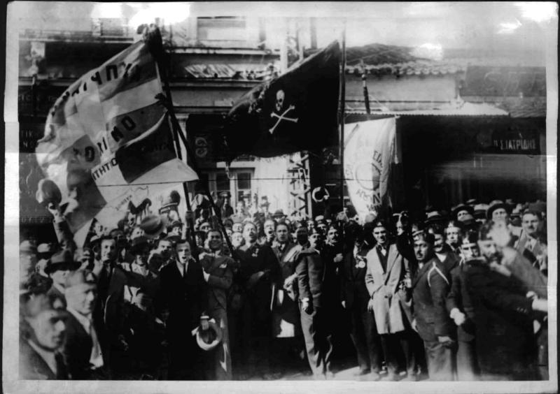 Demonstration in Griechenland von Weltbild