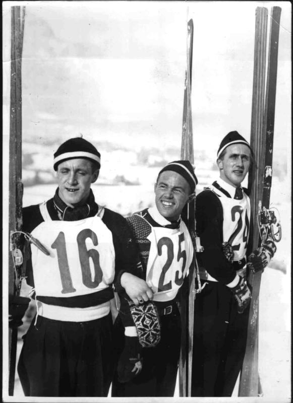Wintersportwoche in Garmisch-Partenkirchen von Scherl Bilderdienst