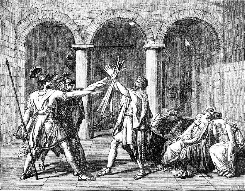 """""""Der Schwur der Horatier"""" von David, Jacques Louis"""