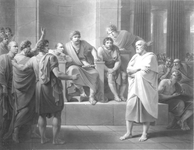 Sokrates vor den Richtern von Kininger, Vinzenz Georg