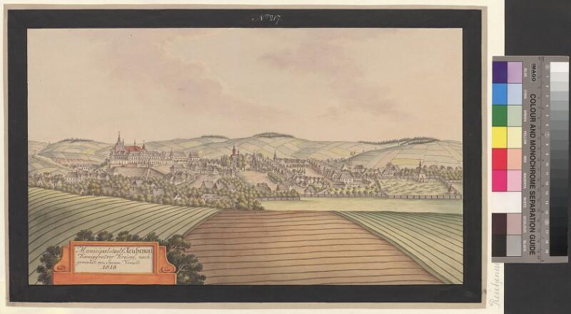 Municipalstadt Reichenau Koeniggraetzer Kreises, nachgemahlt von Joann Venuto 1818 von Venuto, Johann