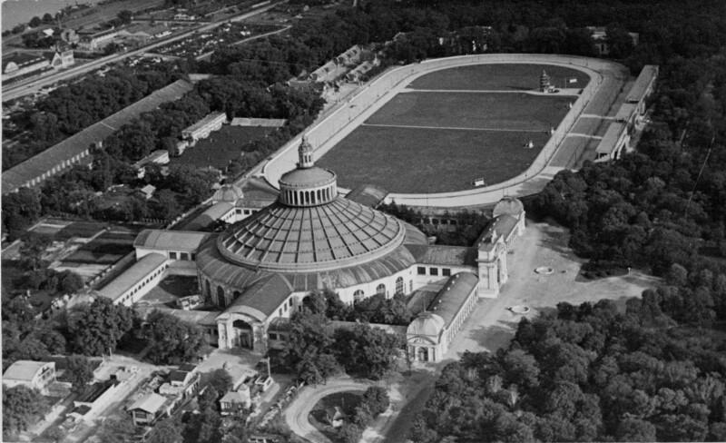 Luftaufnahme der Wiener Rotunde