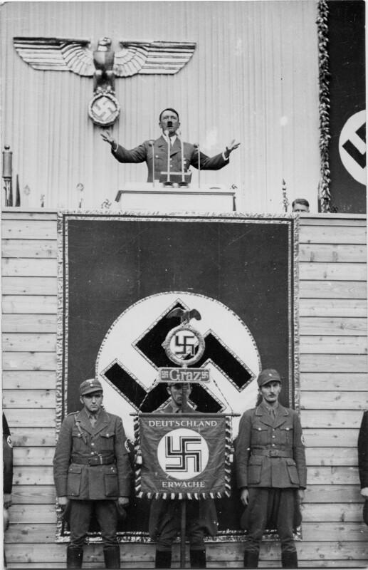 Hitlerrede in der Grazer Waggonfabrik am 3. April 1938