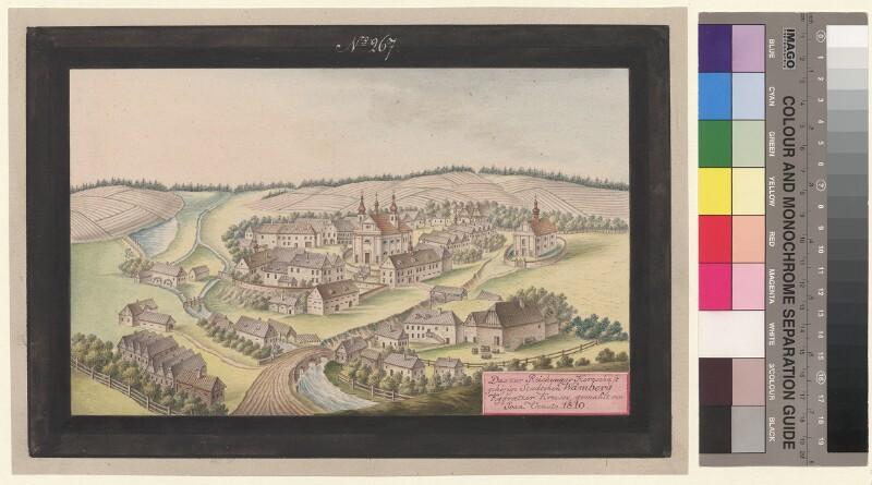 Das zur Reichenauer Herrschaft gehörige Staedtchen Wamberg Kggraetzer Kreises, gemahlt von Joan. Venuto 1810 von Venuto, Johann
