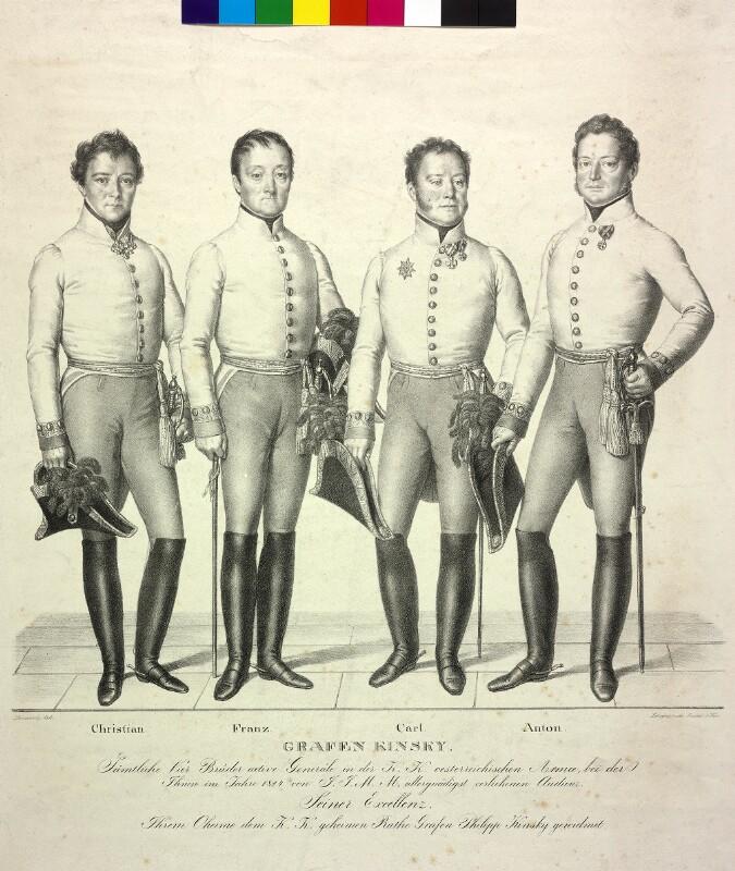 Kinsky, Anton Graf von Lanzedelly, Josef