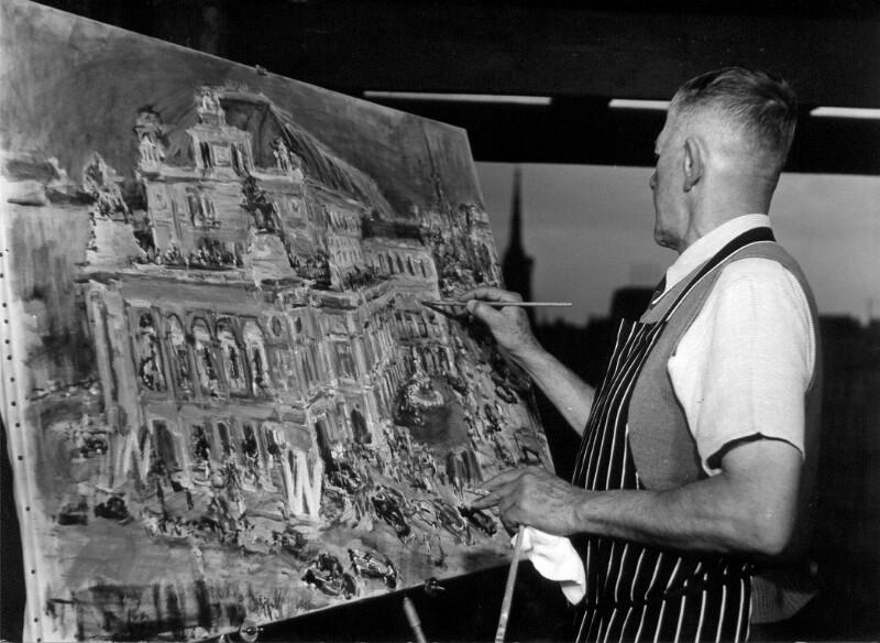 Oskar Kokoschka malt die Wiener Staatsoper