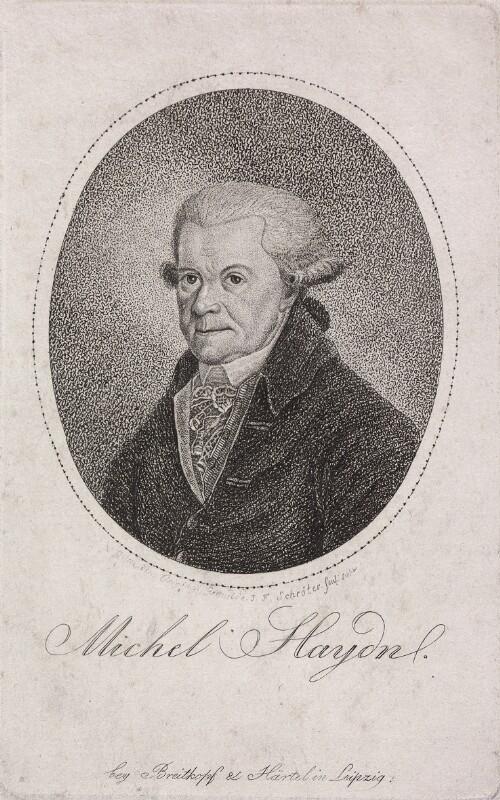 Bildnis Michael Haydn (1737 - 1806) von Schröter, Johann Friedrich