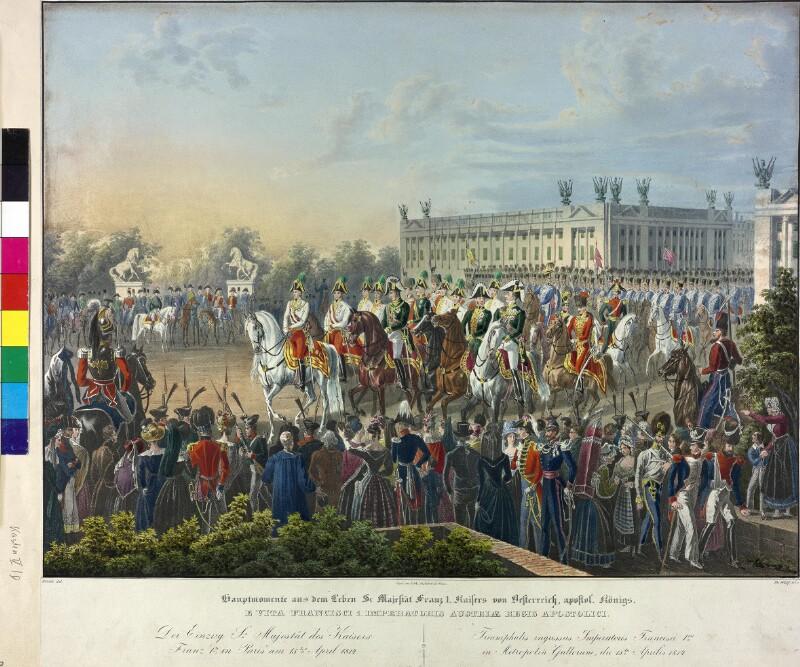 Einzug von Kaiser Franz I. in Paris 1814 von Hoechle, Johann Nepomuk