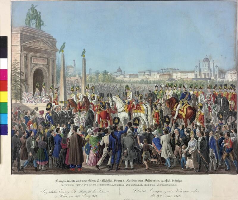 Einzug von Kaiser Franz I. in Wien 1814 von Hoechle, Johann Nepomuk