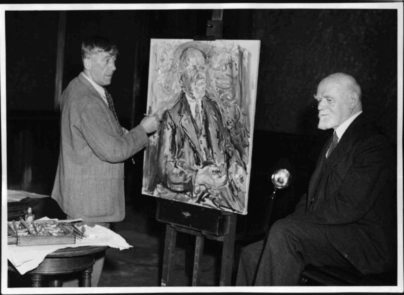 Kokoschka porträtiert Bürgermeister Körner