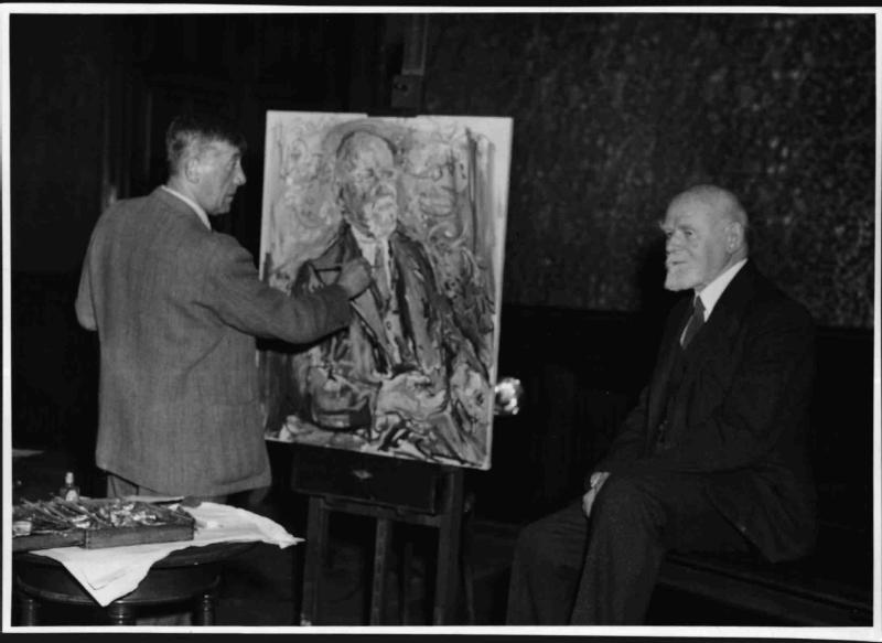 Oskar Kokoschka porträtiert Bürgermeister Körner von Blaha, Franz