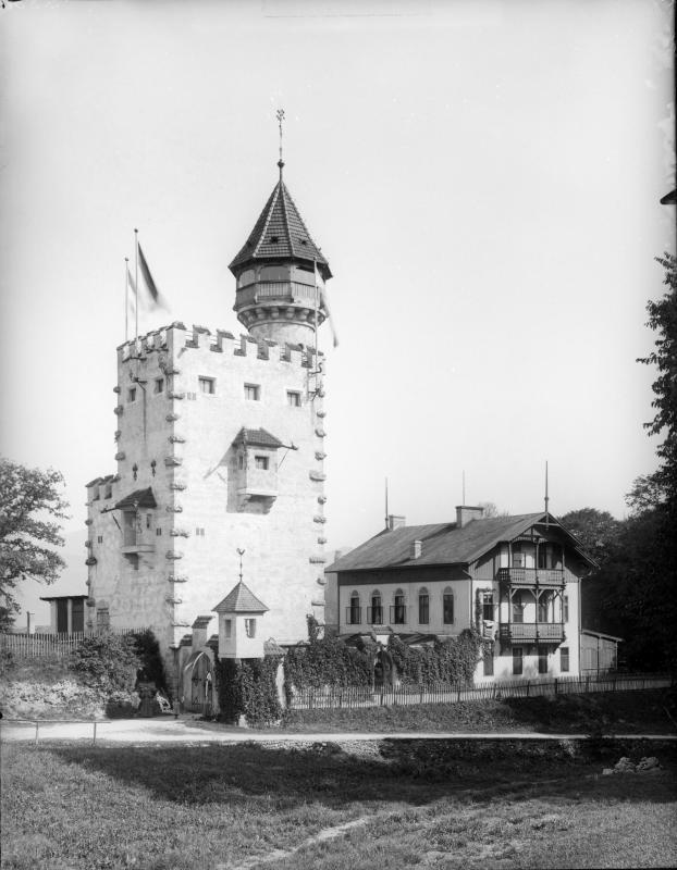 Ausaichtsturm am Mönchsberg in Salzburg von Möhsl, Karl